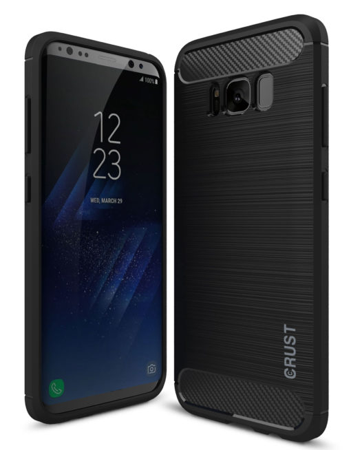Crust CarbonX Samsung Galaxy S8 (5.8 Inch) Back Cover Case - Black
