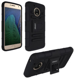 Crust Armor Motorola Moto G5 (5 Inch) Back Cover Case - Black