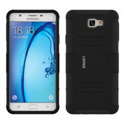 Crust Armor Samsung Galaxy On Nxt / Galaxy J7 Prime Back Cover Case - Black