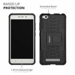 Crust Impact Xiaomi Redmi 4A / Mi Redmi 4A Back Cover Case - Black