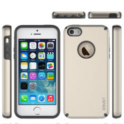 Crust Slim Armor Dual Layer Back Cover For Apple iPhone SE / iPhone 5S / iPhone 5, Shock Proof Hybrid Hard & Soft Case