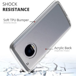 Crust Air Hybrid Motorola Moto G5 Plus (5.2 Inch) Back Cover Case - Crystal Clear