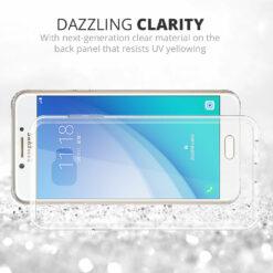 Crust Air Hybrid Samsung Galaxy C7 Pro Back Cover Case - Crystal Clear