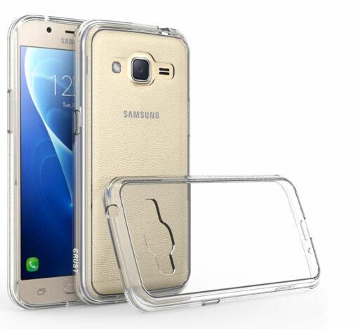 Crust Air Hybrid Samsung Galaxy J2 Pro (2016) / Galaxy J2 (2016) Back Cover Case - Crystal Clear