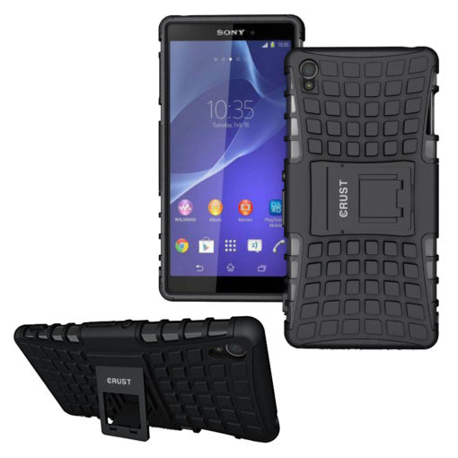 Crust Impact Sony Xperia Z3 Back Cover Case - Black
