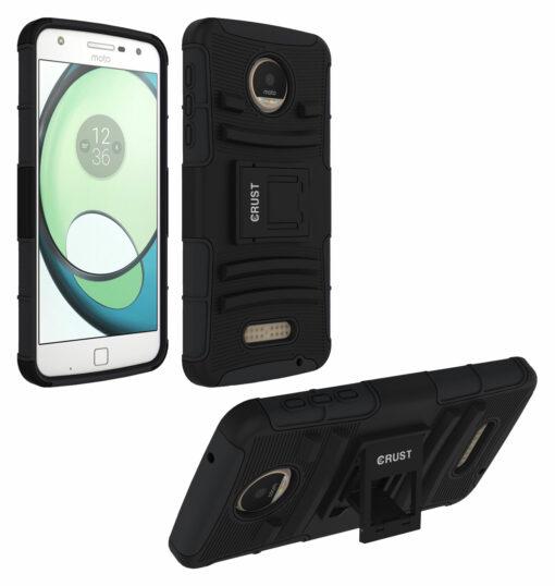Crust Armor Motorola Moto Z Play Back Cover Case - Black