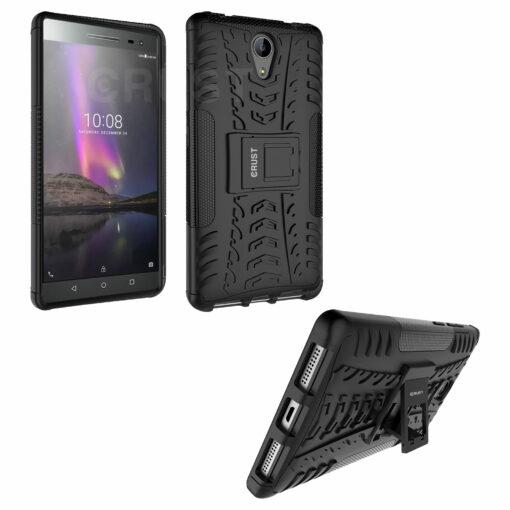 Crust Impact Lenovo Phab 2 Back Cover Case - Black
