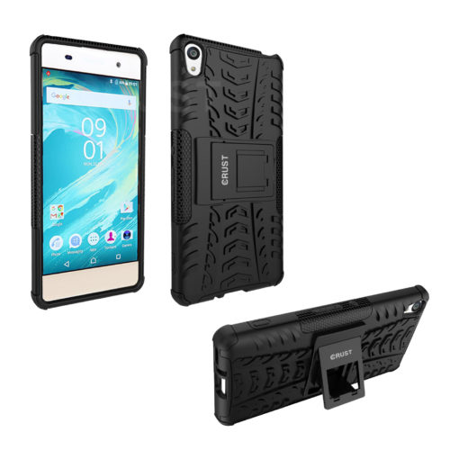 Crust Impact Sony Xperia XA Dual Back Cover Case - Black