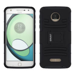 Crust Armor Motorola Moto Z Play Back Cover Case - Black