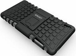 Crust Impact Sony Xperia Z3 Back Cover Case - Black