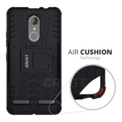 Crust Impact Lenovo K6 Power Back Cover Case - Black