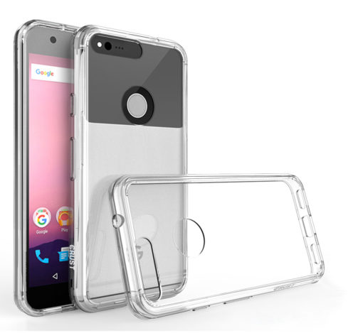 "Crust Air Hybrid For Google Pixel (5"") Back Cover Case - Crystal Clear"