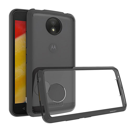Crust Air Hybrid Motorola Moto C Plus Back Cover Case - Black