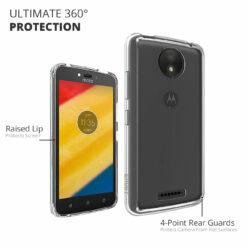 Crust Air Hybrid Motorola Moto C Plus Back Cover Case - Black