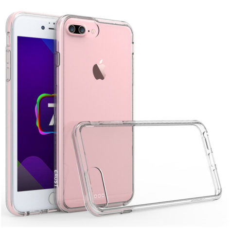 Crust Air Hybrid Apple iPhone 8 Plus / iPhone 7 Plus (5.5 Inch) Back Cover Case - Crystal Clear