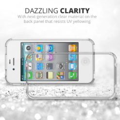 Crust Air Hybrid Apple iPhone 4S / iPhone 4 Back Cover Case - Crystal Clear
