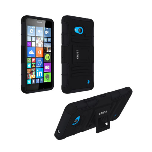 Crust Armor Microsoft Lumia 640 (5 Inch) Back Cover Case - Black