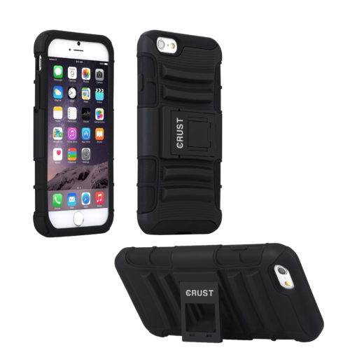 Crust Armor Apple iPhone 6S Plus (5.5 Inch) / iPhone 6 Plus Back Cover Case - Black