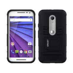 Crust Armor Motorola Moto G3 / Moto G Turbo Edition / Moto G (3rd Gen) Back Cover Case - Black