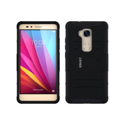 Crust Armor Huawei Honor 5X Back Cover Case - Black