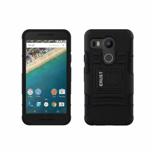 best website d9e45 d6adf Crust Armor Google Nexus 5X / LG Nexus 5X Back Cover Case - Black