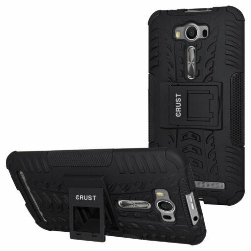 Crust Impact Asus ZenFone 2 Laser ZE500KL (5 Inch) Back Cover Case - Black