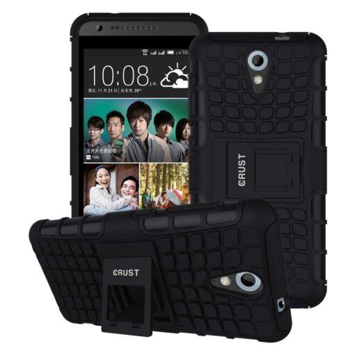 Crust Impact HTC Desire 620G / Desire 620 / Desire 820 Mini Back Cover Case - Black
