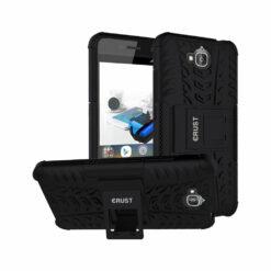 Crust Impact Huawei Honor Holly 2 Plus Dual SIM Back Cover Case - Black