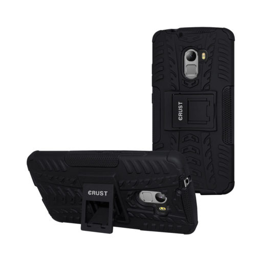 Crust Impact Lenovo Vibe K4 Note, Lenovo A7010, Lenovo Vibe X3 Lite Back Cover Case - Black