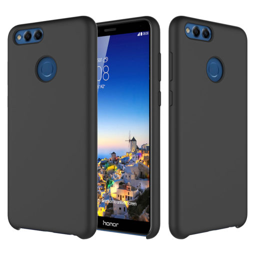 Crust Liquid Silicone Huawei Honor 7X Back Cover Case - Black