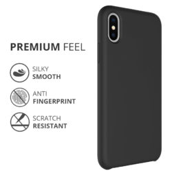 Crust Liquid Silicone Apple iPhone X / iPhone 10 Back Cover Case - Black