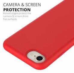Crust Liquid Silicone Apple iPhone 6 / iPhone 6S / iPhone 7 / iPhone 8 Back Cover Case - Black