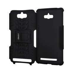 Crust Impact Asus ZenFone Max ZC550KL (5.5 Inch) Back Cover Case - Black