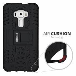 Crust Impact Series Asus ZenFone 3 ZE552KL (5.5 Inch) Back Cover Case - Black