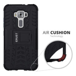 Crust Impact Asus ZenFone 3 ZE520KL (5.2 Inch) Back Cover Case - Black