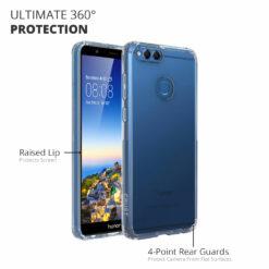 Crust Air Hybrid Huawei Honor 7X Back Cover Case - Black