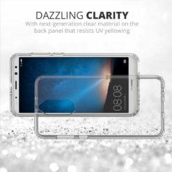 Crust Air Hybrid Clear Back Cover For Huawei Honor 9i - Black