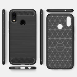 Crust CarbonX Cover Case For Huawei Honor P20 Lite - Midnight Blue