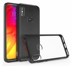 Crust Air Hybrid Motorola Moto One Power Back Cover Case - Black