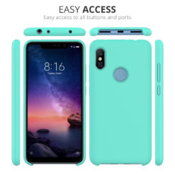 Crust Liquid Silicone Xiaomi Mi Redmi Note 6 Pro Back Cover Case